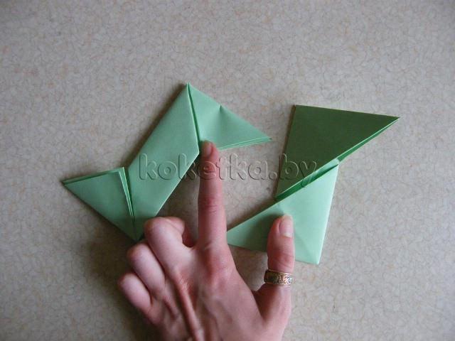Как сделать из бумаги сюрикен?  Мастер класс.