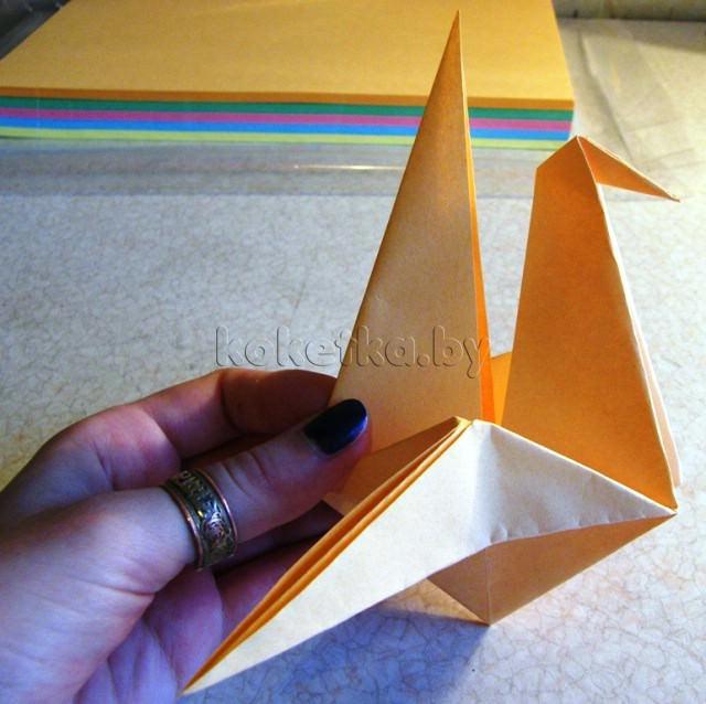 Как сделать журавлика из бумаги? Мастер класс