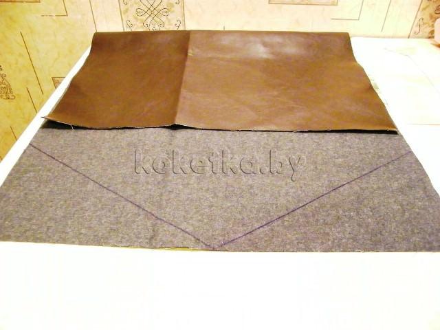 Выкройка сумки клатч конверт - Выкройка