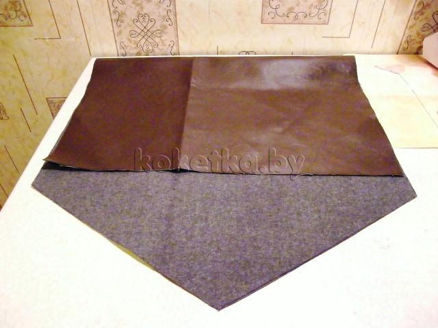 Сшить клатч конверт из кожи 775