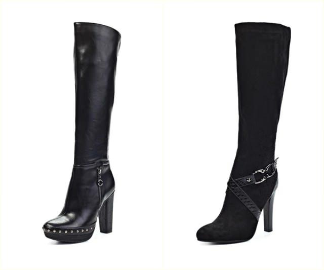 4) Грубые сапоги Напоминающие мужские ботинки, такие сапоги отлично смотрятся на хрупких