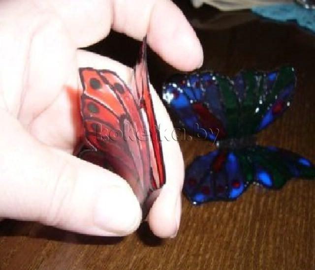 Бабочка из пластиковой бутылки своими руками фото 18