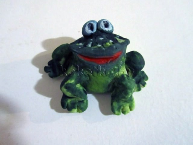Лягушка из соленого теста своими руками. Мастер класс
