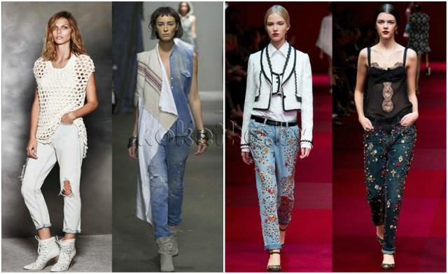 Модные Джинсы Весна 2015 Женские