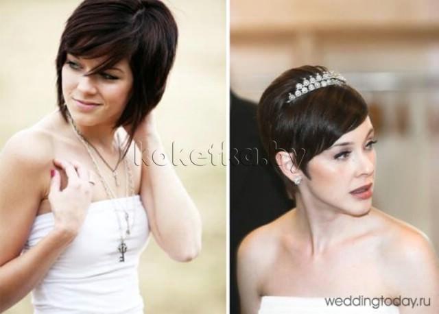 Своими руками свадебные прически на короткие волосы