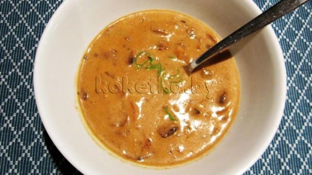 низкокалорийный рецепт грибного крем супа
