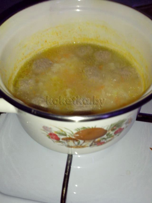 фрикадельки для супа рецепт из фарша без риса