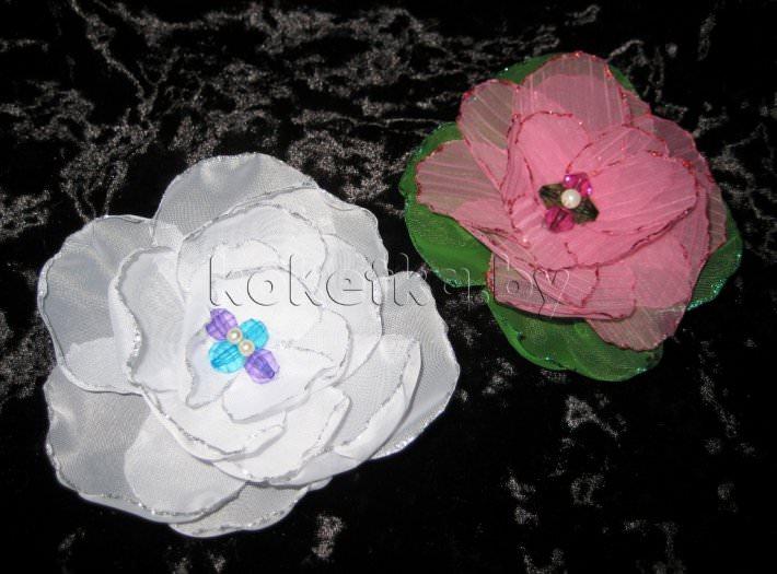 Цветы из ткани для штор мастер классы