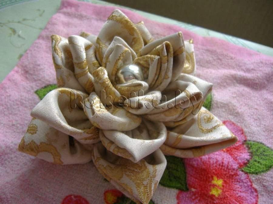 Как сделать цветок на шторы из ткани своими руками 2