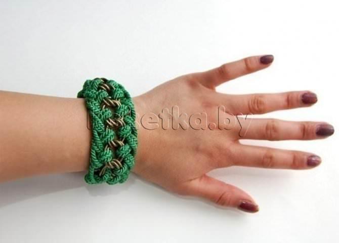 Плетение браслетов из шнурков: разные способы.