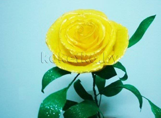 Цветы из бумаги роза своими руками