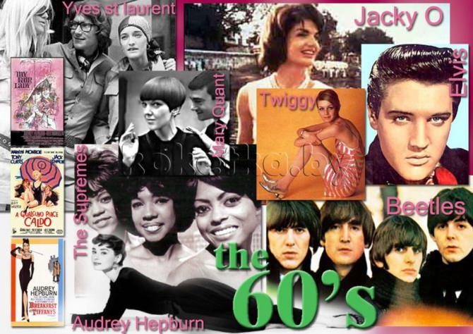 """Стиль одежды 60-х годов сильно отличался от 50-х.  На смену женственности приходит  """"молодежная """" мода, этакой..."""
