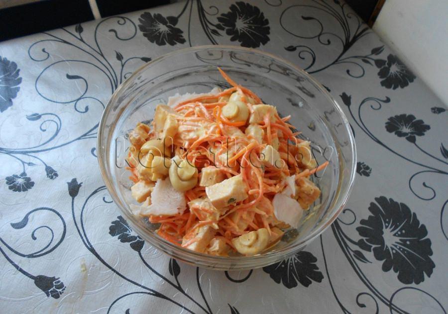 салат курица копченая и шампиньоны рецепт