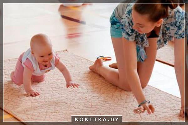 Первый полигон чтобы научить ребенка ползать