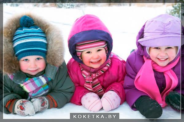 Прогулки с малышами зимой