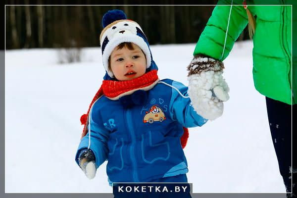 Прогулка с малышом зимой для закалки