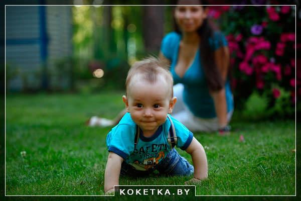 прогулки с малышом летом