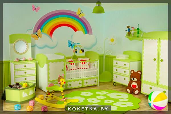 О влиянии цветов на новорождённого зеленый