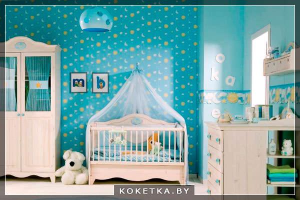 О влиянии цветов на новорождённого синий