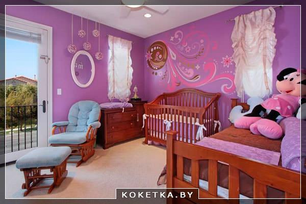 О влиянии цветов на новорождённого фиолетовый