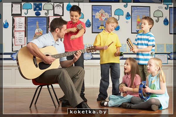 Музыкальная школа: занятие