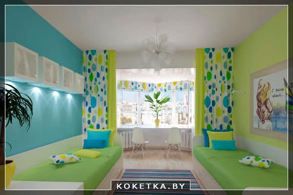 Красивая детская комната для двух детей