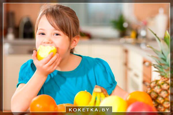 свежие фрукты для роста и здоровья детских зубов