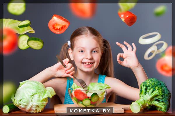 сырые овощи для роста и здоровья детских зубов