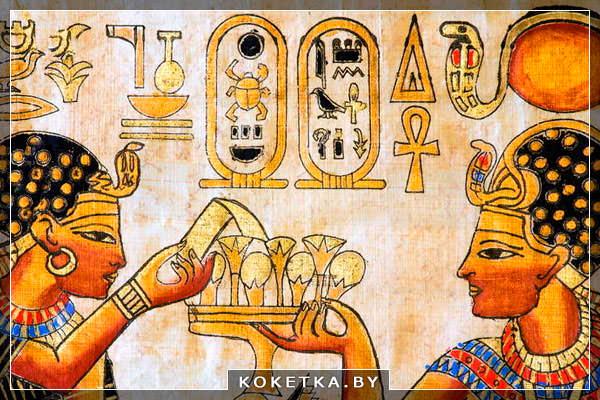Впервые маникюр появился в древнем Египте