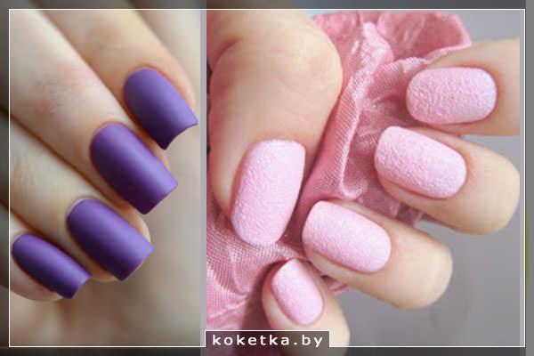 Ультрафиолет и пастельный розовый - модные цвета маникюра 2018