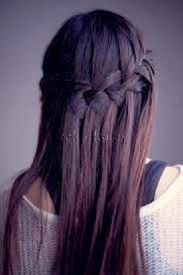 прическа французский водопад на длинных волосах