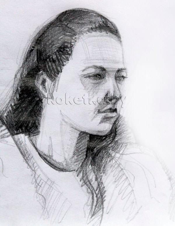 Мастер класс по портрету карандашом видео