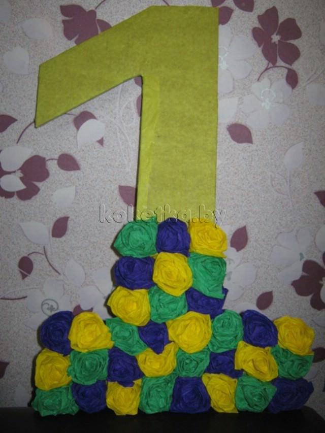 Изготовление цифры на первый день рождения самостоятельно