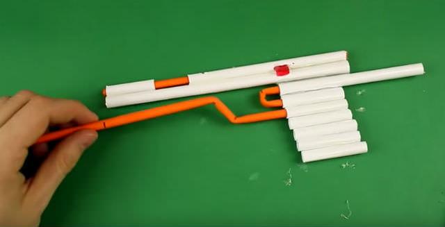 Как сделать пушку из бумаги которая не стреляет а