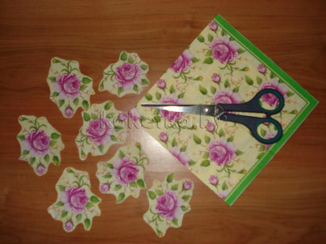 Декупаж фото для начинающих пошагово с фото из салфеток на - Идеи для рукоделия