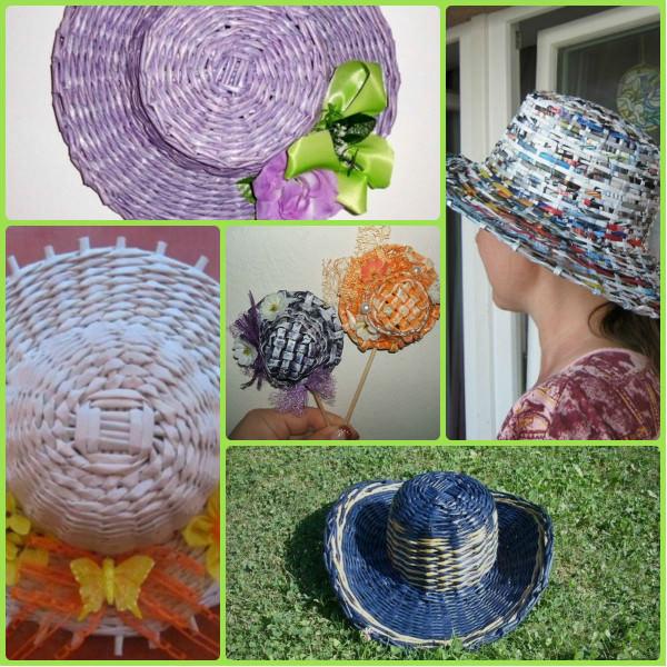 Плетение шляпы из газетных трубочек. Мастер-класс
