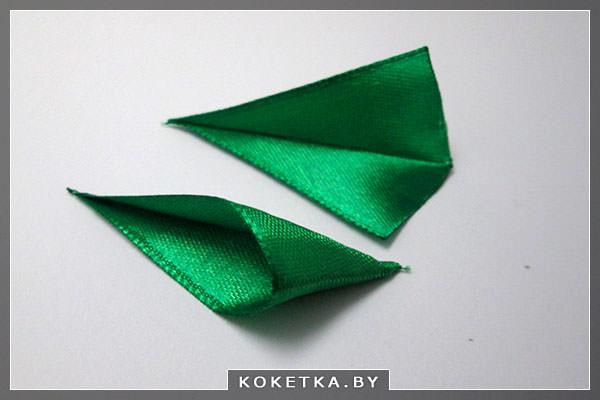 Зеленые листья для канзаши