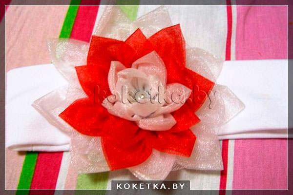 Цветок из банта