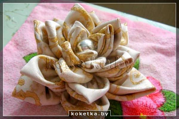 Цветок для шторы своими руками