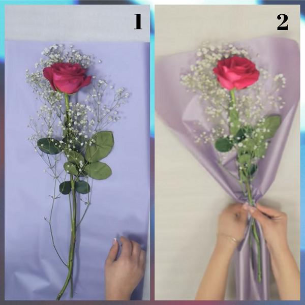 Упаковка 1 розы