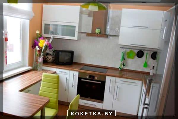 Как сделать жилую комнату на кухне