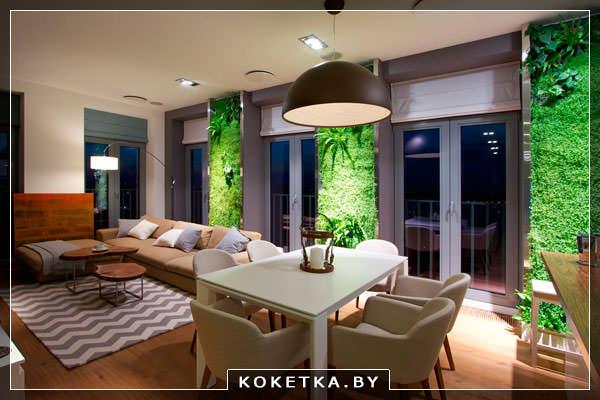 Множество стилей современной гостиной