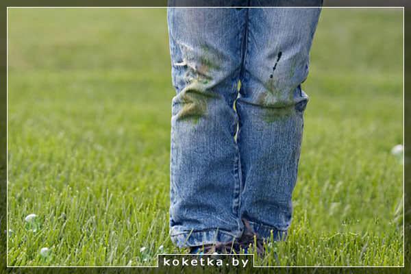 """""""Озеленённые коленки"""" - отстирываем пятна травы с джинсов"""