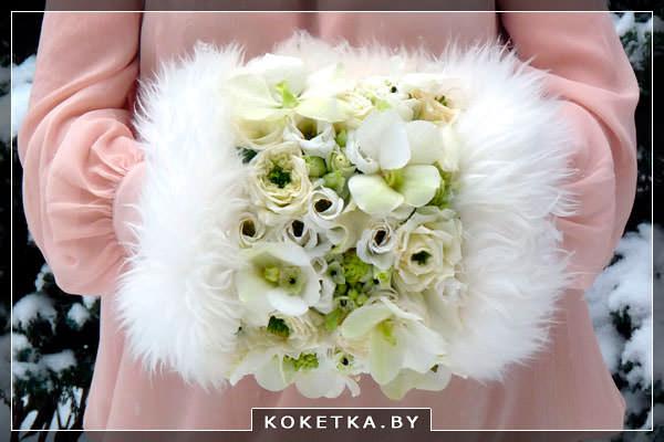 Свадебный букет муфта