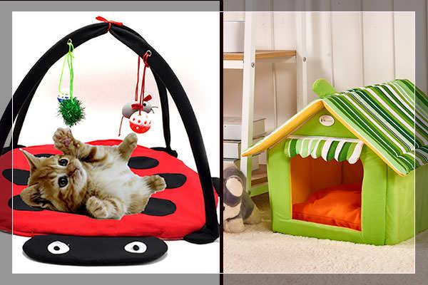 Уютные домики для кошек, игрушки для котят, когтеточки и другое