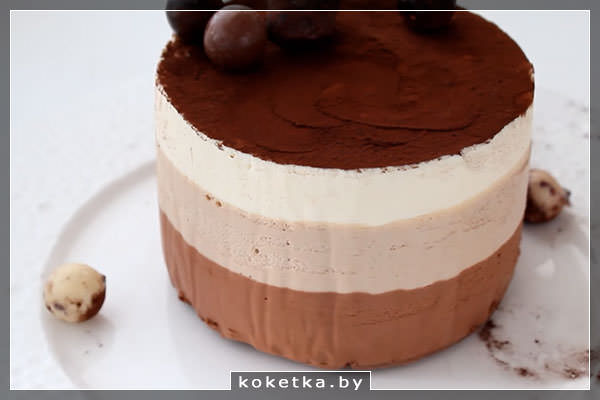 "Фото-рецепт муссового торта ""3 шоколада"""