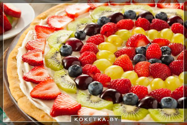 Фруктовая пицца рецепт десерта