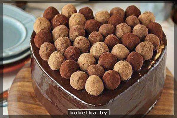 "Торт ""Шоколадное сердце"""