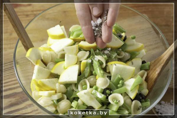 Салат из пасты с овощами. Фото-рецепт