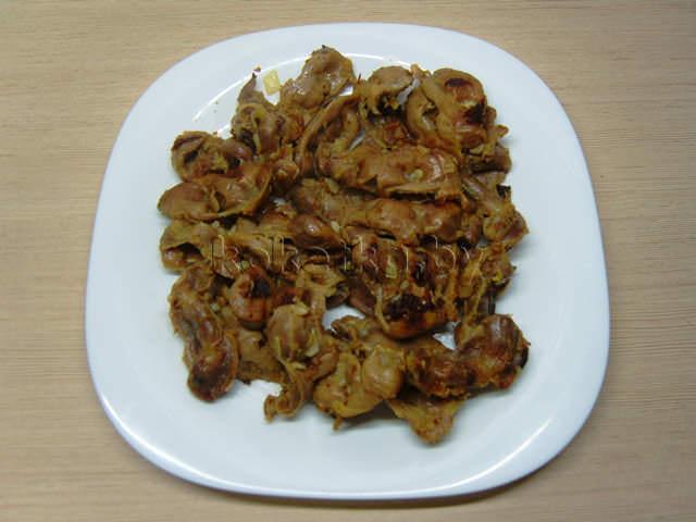рецепт приготовления куриных желудков жареных